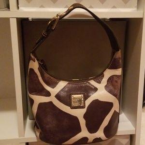 Dooney & Bourke giraffe print bucket purse